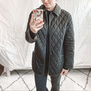 Burberry Quilted Snap Button Jacket